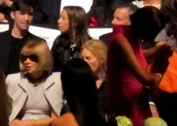 Anna Wintour on the front line