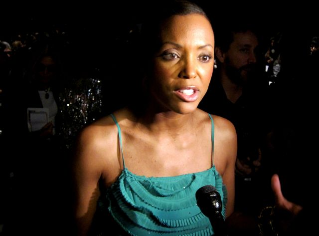 "Aisha Tyler talked ""energy and passion"" before taking her front row seat"