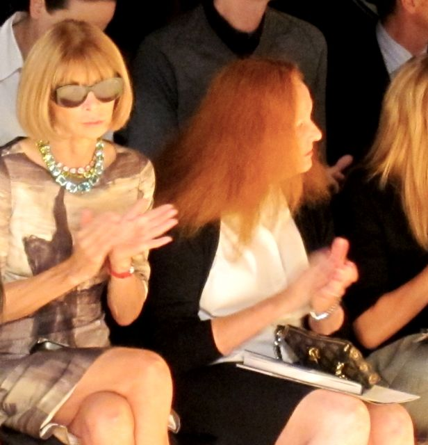 Anna Wintour & Grace Coddington applaud the line