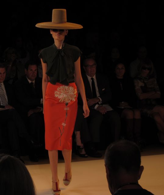 runway look at Carolina Herrera