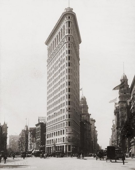 Flatiron Building back in the day. 