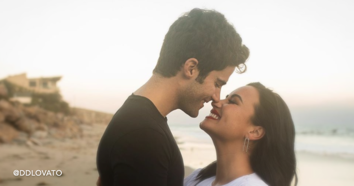 Demi Lovato and Max Ehrich's Romantic Beach Engagement