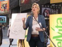 New Broadway Star, Jane Lynch Delivers Breakfast and Laughs to the Streets of New York City