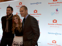 Zachary Levi, Nigel Barker and Katherine McNamara Team up with #DonateaPhoto at Times Square Season of Giving Kick off