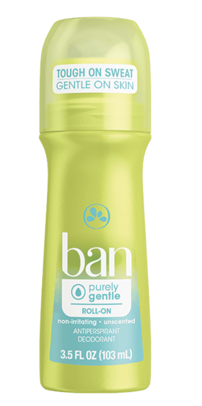 Ban Purely Gentle Roll On Deodorant