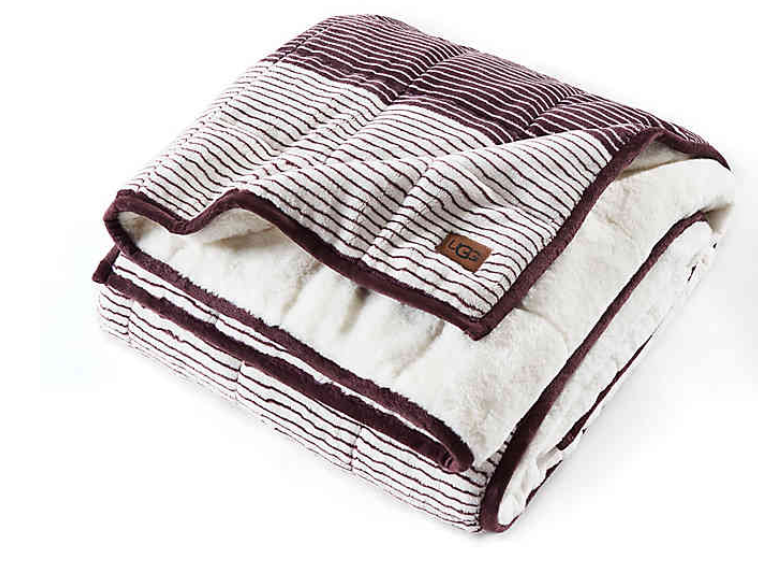 UGG UGG Serene Reversible Striped 12 lb. Weighted Throw Blanket