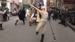 Hamilton cast performs at Macy's Thanksgiving Day parade
