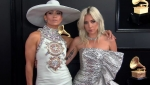 Jennifer Lopez and Lady Gaga at the 2019 Grammy Awards