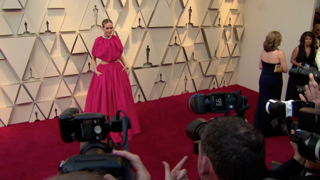 Sarah Paulson in pink at the 2019 Oscars
