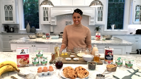 Tia Mowry-Hardrict, Tia Mowry, Quaker, Quaker oatmeal, oatmeal, breakfast, oatmeal recipes, lifeminute, lifeminute.tv