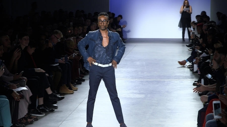 Billy Porter on Blue Jacket Runway 2019