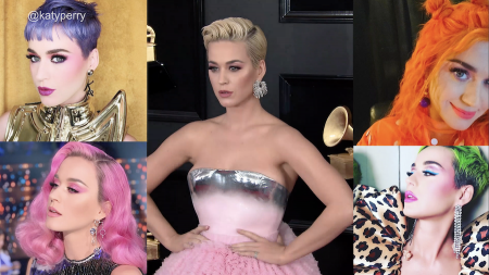 The many hair colors of Katy Perry