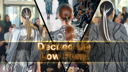hair, hair trends, ponytail, hairstyle, hair trend, ponytail trend, Giovanni Vaccaro, Christian Siriano, Justine Marjan, decked up ponytair, new york fashion week, fall 2019, fall 2019 trends, lifeminute, lifeminute.tv