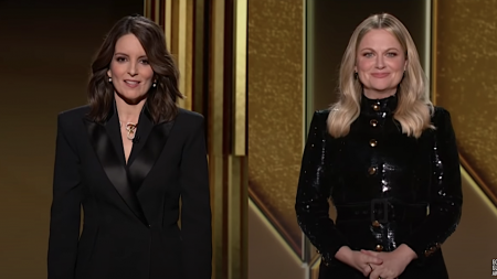 The 78th annual Golden Globe awards were held virtually Sunday night, hosted by Tiny Fey and Amy Poehler from opposite coasts—Fey in New York and Poehler in Los Angeles.