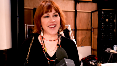Molly Ringwald, NYFW, Mathilda Gianopoulos, Just Drew, lifeminute, lifeminute.tv