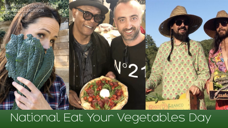 National Eat Your Vegetables Day, Eat more veggies, how to eat more veggies, Ellie Krieger, Marc Murphy, Katie Lee, Elisha Cuthbert, Martha Hunt, Helen Mirren, Michelle Rodriguez, Heidi Klum, Alysia Reiner, Neil Patrick Harris, veggies, vegetables, lifeminute, lifeminute.tv