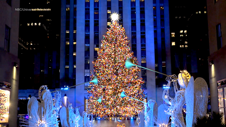Rockefeller Center Christmas Tree Ceremony Brings Some Holiday Cheer to NYC