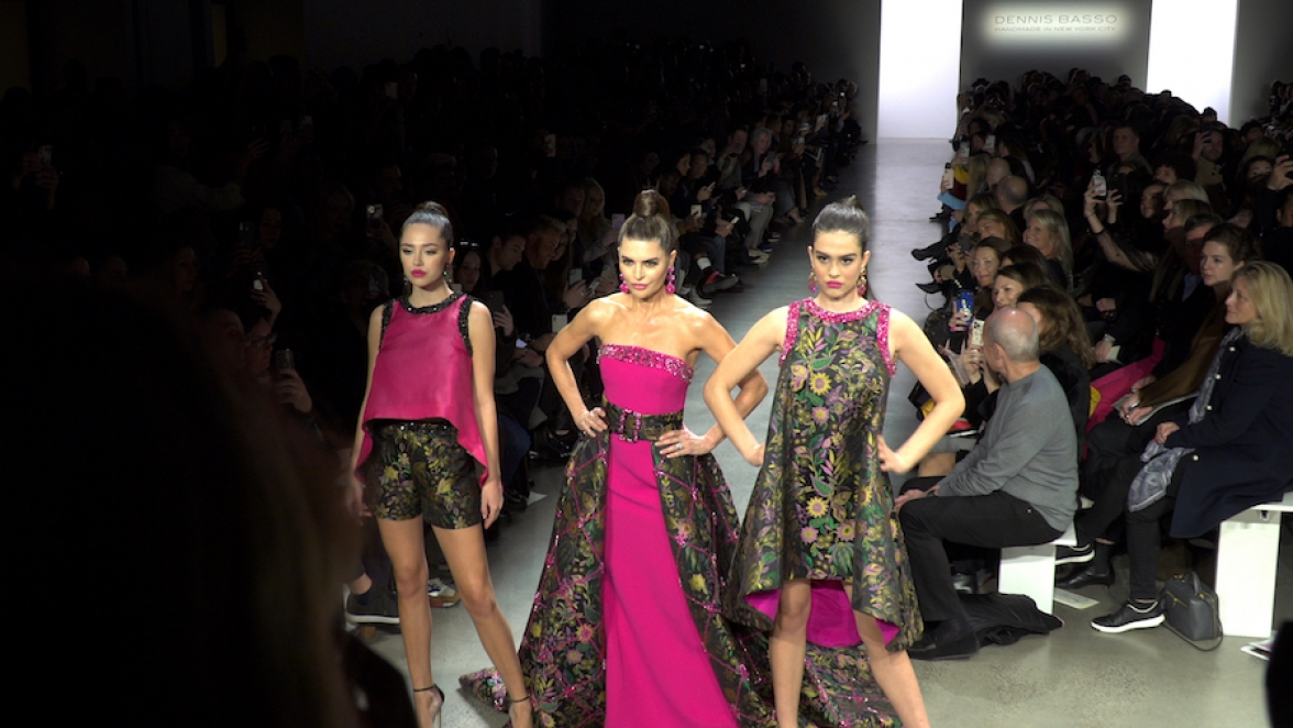 Lisa Rinna, Dennis Basso, fashion, Delilah Hamlin, Amelia Hamlin, NYFW, Fall 2020, New York Fashion Week, lifeminute, lifeminute.tv