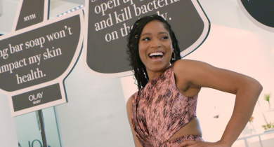 Keke Palmer, Olay Body, Olay Premium Body Washes,  Olay Ultra Moisture Body Wash with Shea Butter and Vitamin B3 Complex,  Olay Ultra Moisture Body Wash, Olay Rinse-Off Body Conditioner, Vitamin B3 Complex, Body wash, Collagen, Hyaluronic Acid, Vitamin C, skincare, lifeminute, lifeminute.tv
