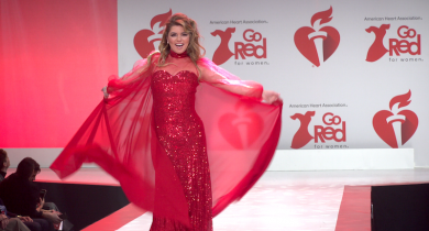 Shania Twain, Meghan Trainor, The American Heart Association, Go Red for Women, Red Dress Collection, New York Fashion Week, Fall 2020, Tamron Hall, Heather Graham, Constance Zimmer, Jackie Cruz, Jennifer Tilly, Kimberly Williams-Paisley, Lyric Ross, Darlene Love Shania Twain, Meghan Trainor, heart disease, health, women's health, heart disease in women, lifeminute, lifeminute.tv