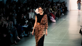 Bibhu Mohapatra, Fall 2020, modern indian woman, nyfw, fashion, new york fashion week, Actresses Stana Katic, Madeleine Arthur, Annet Mahendru, lifeminute, lifeminute.tv