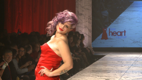 Full Runway Red Dress Heart Truth 2013 Collection
